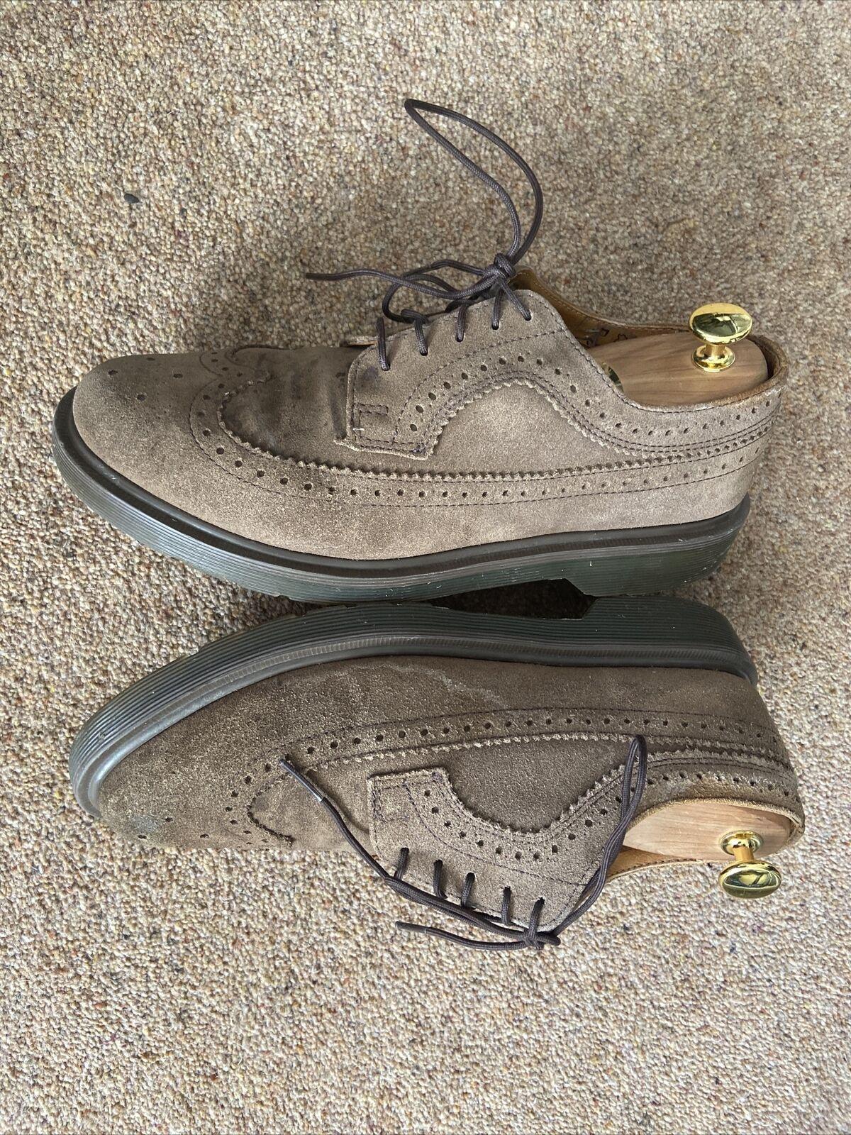 Dr. Martens Men's Oxfords Shoes Brown Lace Up Swede Low Top Size Uk 7