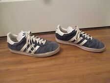 Used Worn Size 9 Adidas Gazelle Shoes Blue White