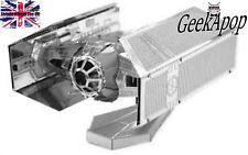 STAR Wars Vader's TIE Fighter miniatura LASER CUT MODELLO in METALLO costruzione KIT