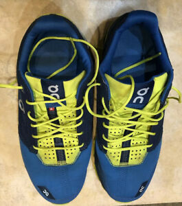 Details about QC On Cloud Men\u2019s US 7 Blue Yellow Swiss Engineering Running  Shoes Sneakers