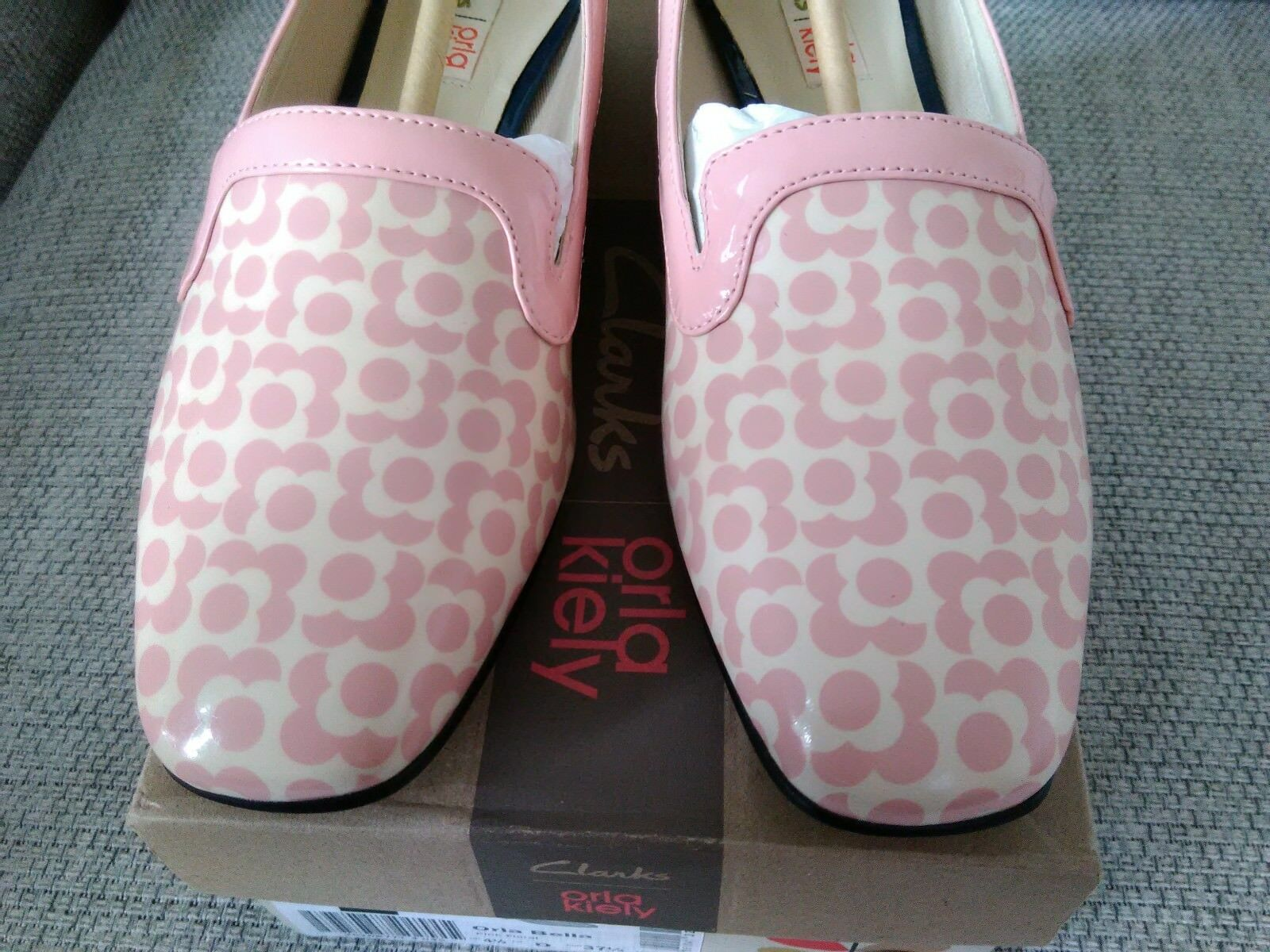 Orla Kiely Clark's, Bella Floral shoes, in pink, pink, pink, UK size 4.5, EUR 37.5, Retro 2840bd