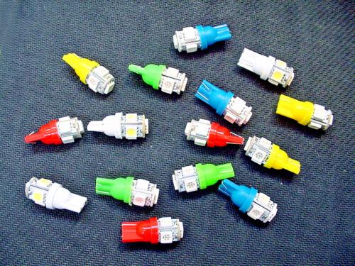 15 BRIGHT Asst 5 LEDs Side Marker License Plate Clock Lights Bulbs For Imports