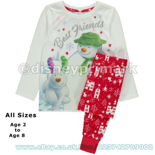 Official THE SNOWMAN and SNOWDOG Childrens Pyjamas Set Girls Boys Christmas Gift