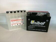 CBTX12-BS BATTERIA MOTO UNIBAT 10 AH 180 A (EN) - COD. YUASA YTX12-BS