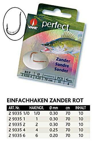 VMC Perfect Zanderhaken gebundene Haken im Briefchen verschiedene Sorten