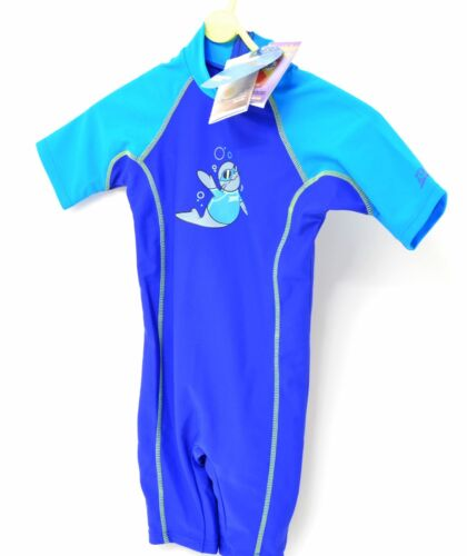 1 Piece Zoggy Childs Sun Protection Suit For Beach UPF50+ Blue Zoggs