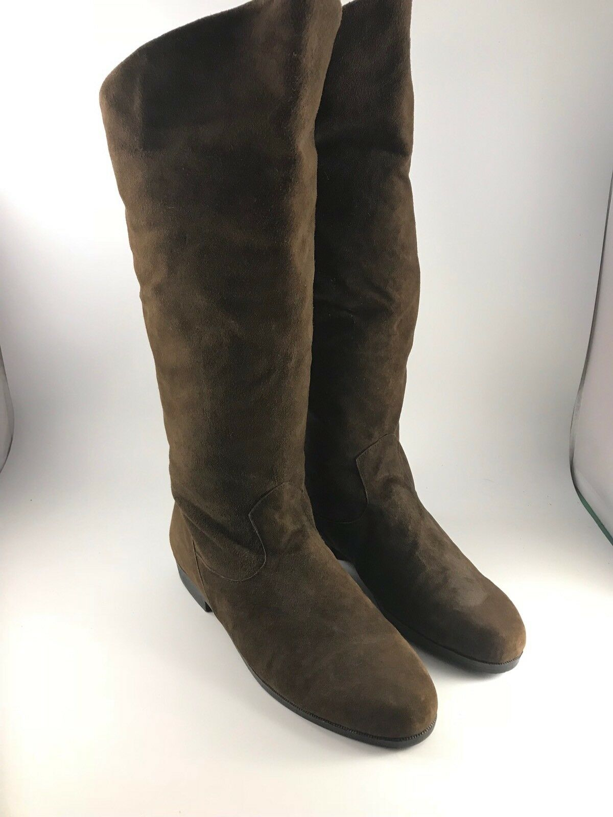 PAIR OF WOMEN'S SIZE 8.5 BROWN SUEDE LEATHER JACK SPRAT BOOTS