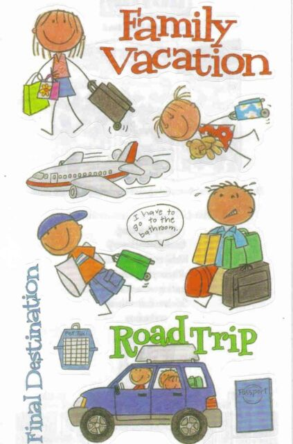 Mambi Minis Vacation Kids Travel Scrapbook Stickers Ebay