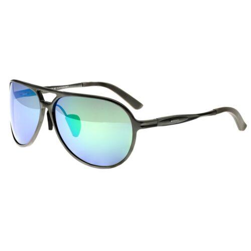 Gunmetal//Blue-Green Breed Earhart Aluminum Sunglasses