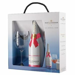 8d7560caaf3c Moet and Chandon ICE Rose Champagne 75cl 2 Glass Gift 12% ABV ...
