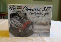 Revell Model Kit Engine Corvette Car 327 Fuel Injected Stand