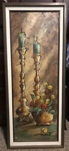 RUIZ-SIGNED-42-OIL-ON-CANVAS-IMPRESSIONIST-STILL-LIFE-PAINTING