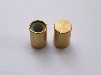 12pcs Aluminum Gold Knobs VOLUME TONE CONTROL KNOB 15mmX10mm