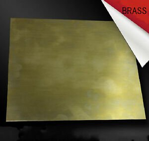 1pcs Brass Metal Sheet Plate 3mm x 100mm x 100mm #E3D31  GY