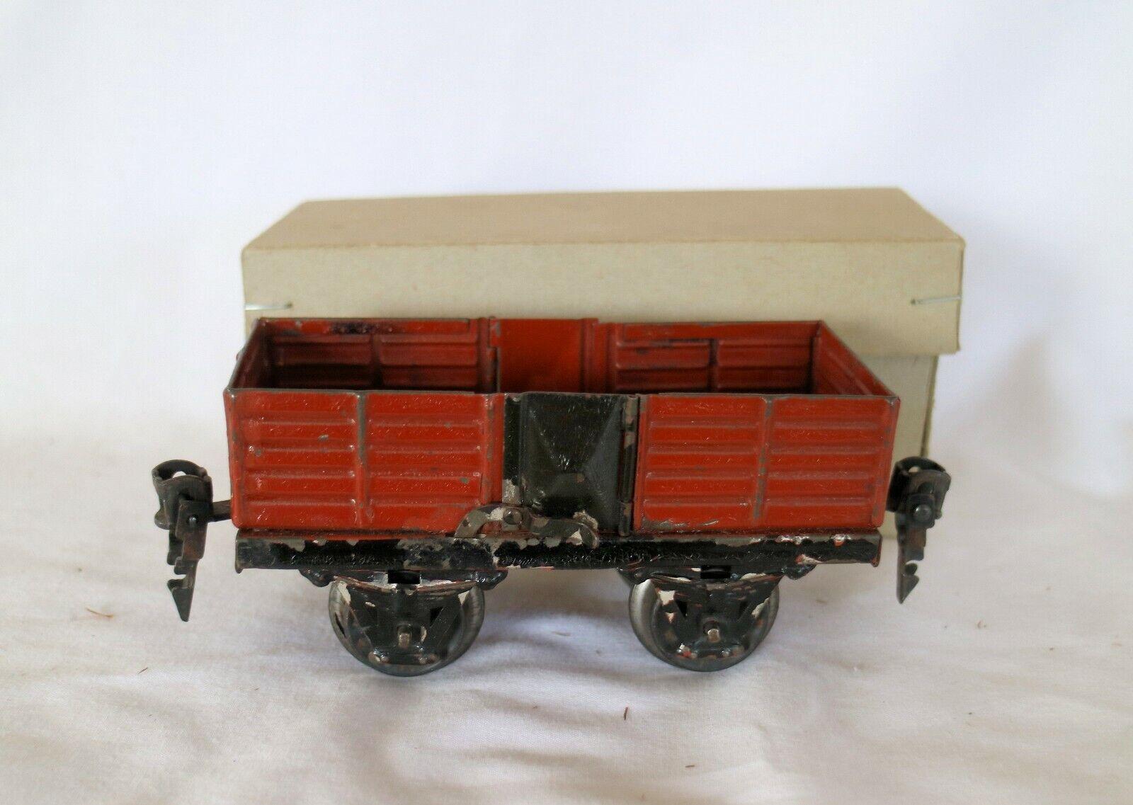J02I  Vintage Marklin 0 Scala Prima Della Guerra Aperto Vagone Merci 1925-33
