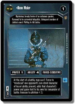 Star Wars CCG Jabbas Palace Card Bane Malar