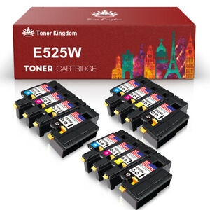 12-Pack-Color-Toner-Cartridge-Set-for-Dell-E525W-E525-525-Color-Laser-Printer