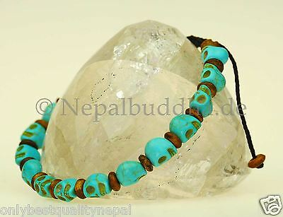 Armband Knochen Totenkopf Schädel Totenköpfen Nepal Schmuck Asien s46
