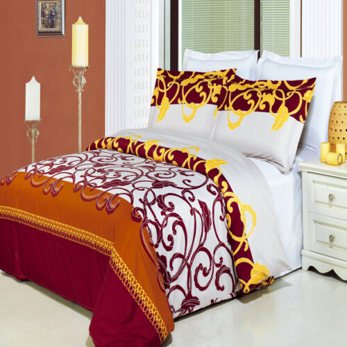 King Size Mission Printed 8PC 100% Combed Cotton 300TC Duvet Cover Set