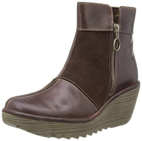 FLY UP LONDON YIME PATCHWORK ZIP UP FLY PLATFORM WEDGE ANKLE Stiefel UK 4 EUR 37 bb53d2