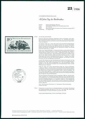 Brd Ministerium AnkÜndigungsblatt 1986/23 Tag Der Marke Kutsche Pferd Rare Z2946 Erfrischung