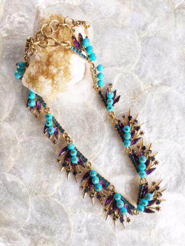 Elizabeth Cole Collar Statement Necklace, Purple,… - image 1