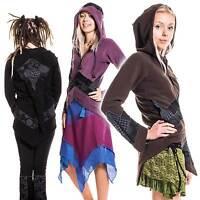 PIXIE RINGMASTER JACKET, hippie hooded fleece coat, mandala psy trance jacket