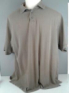Men-039-s-Arrow-brown-100-cotton-SS-polo-shirt-size-XXL-made-in-India
