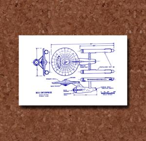 Star Trek Enterprise Starship Blueprint Plan BP0190