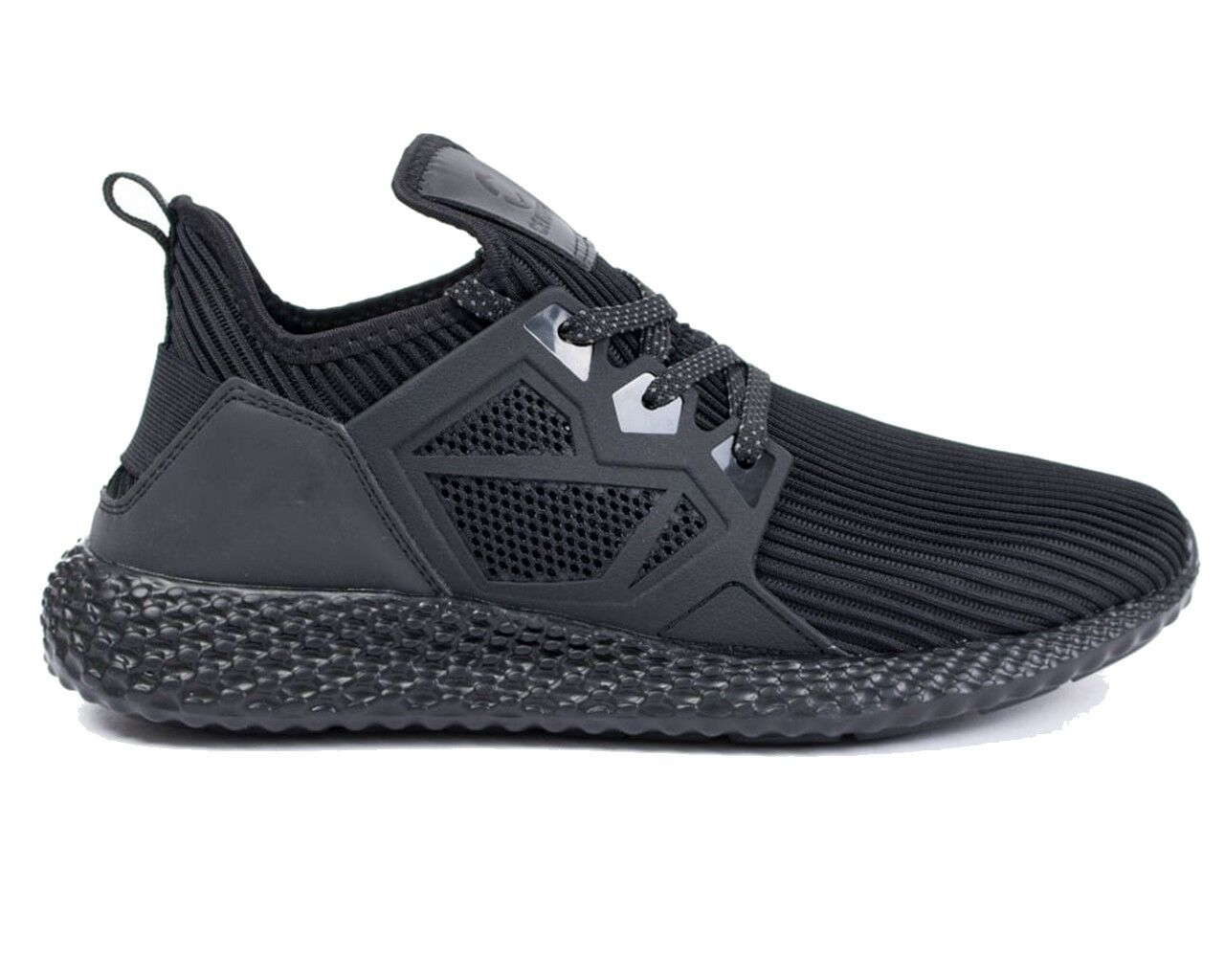 Certified Trainers London CT1000 Mesh Mens Trainers Certified Black Gym Shoes 38870f