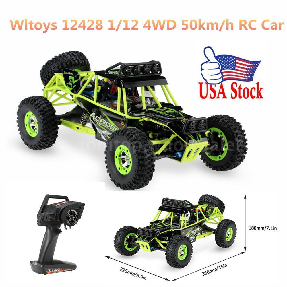Hot Wltoys 12428 1 12 2.4G 4WD Electric 540 540 540 Brushed Motor Crawler RTR RC Car USA 1447f2