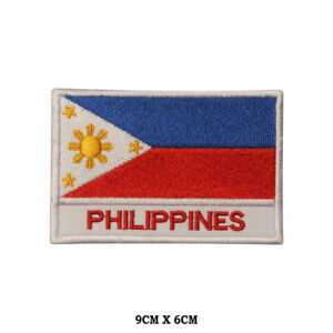 PHILIPPINES National Flag Embroidered Patch Iron on Sew On Badge For Clothe etc