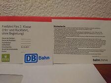 DB Bahn Freifahrt Flex 2. Klasse Hin- Und Rückfahrt