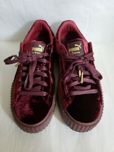 "official photos 5044f f2847 Details about Fenty Puma Creeper Velvet ""Burgundy"