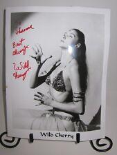 ~AUTOGRAPHED PHOTO~ Wild Cherry (Frieda LaBreche) New Orleans Burlesque Dancer!