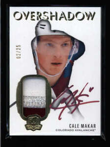 CALE MAKAR 2019/20 UD THE CUP OVERSHADOW ROOKIE 3-COLOR PATCH AUTO #02/25 FC8160