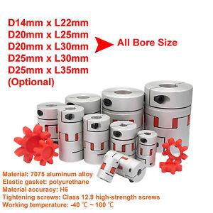 1Pcs 7mm x 10mm D20mm L25mm Motor Flexible Plum Coupling Shaft Coupler