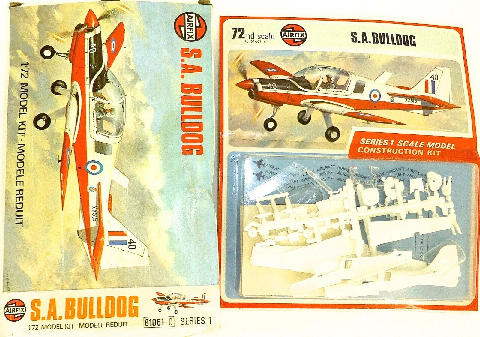 S.A.Bulldog Airfix 61061-0 Série 1 Modèle Kit 1 72 Emballage D'Origine Å