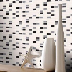 k che badezimmer mosaik rechteckig fliesen tapete von. Black Bedroom Furniture Sets. Home Design Ideas
