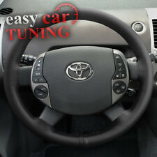 FOR TOYOTA PRIUS XW20 2003-2009 BLACK GENUINE REAL LEATHER STEERING WHEEL COVER