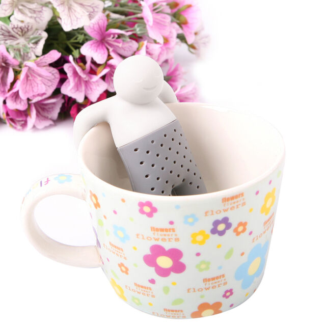 Silicone Infuser Loose Tea Leaf Strainer Herbal Spice Filter Diffuser