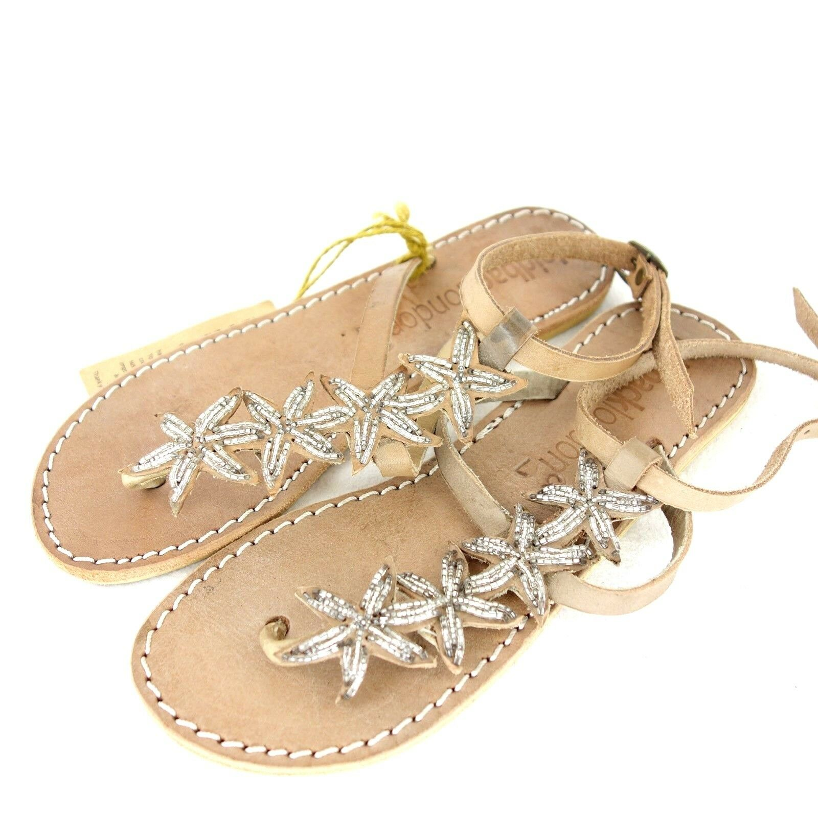 Laidback London Womens Sandals Toe Separator shoes 36 37 Leather Star NEW 69 NP