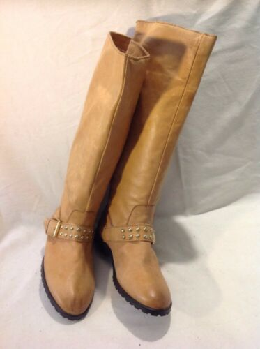 Top Leather High Boots Knee Size 37 Shop Beige qFxqfp