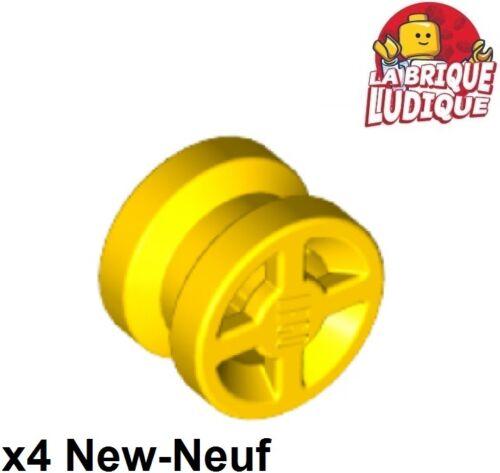 4x wheel rim wheel 8mm D Lego x 6mm yellow//yellow 4624 new