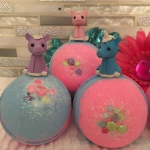 UNICORN-POOP-BATH-BOMBS-Handmade-Fizzies-Individually-Wrapped-TOY-UNICORN