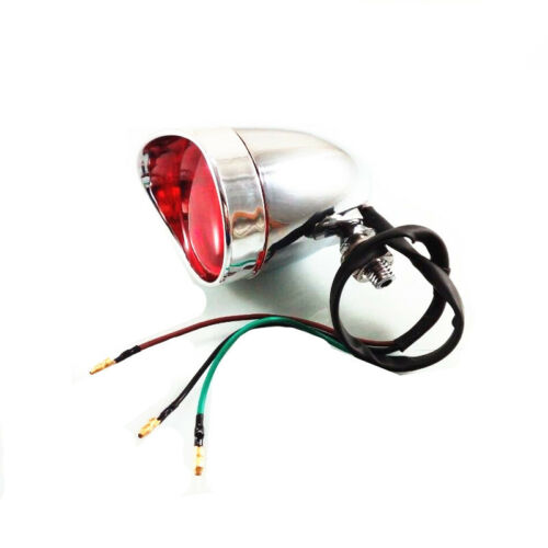 Motorcycle Chrome Tail Brake Stop Light For Harley Dyna Electra Glide Fatboy FXS
