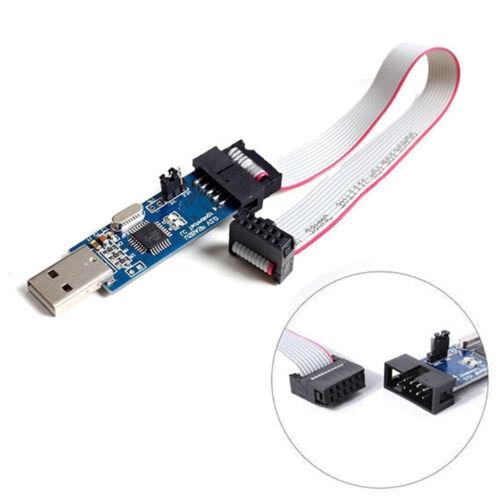 10 Pin Cable  USB ATMEGA8 ATMEGA128 USBASP USBISP AVR Programmierer Adapter