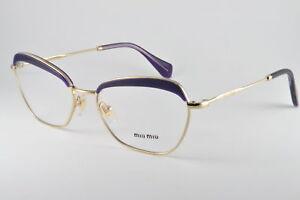 Miu-Miu-Eyeglasses-VMU-51N-TFI-1O1-Pale-Gold-Violet-Transparent-Size-54-17-140