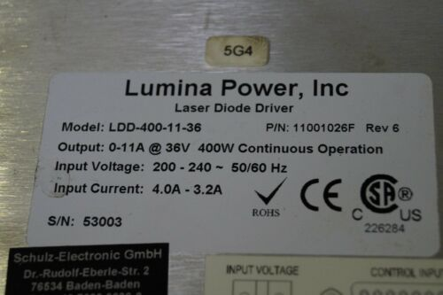 Lumina Power 400w-11a-36v diodos láser controlador-Power Supply ldd-400-11-36 tipo