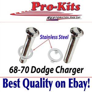 Fits 68 69 70 Charger Door Lock Knobs Stainless Ferrule Door Panel Collars Ebay